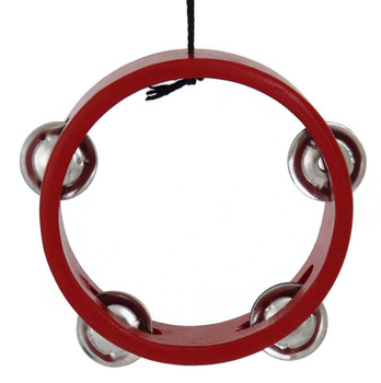 Mini Tambourine Ornament - Red  front