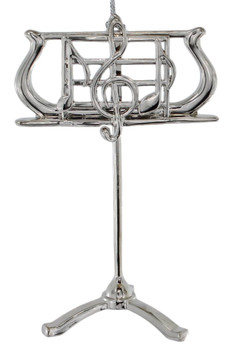 Silver Plated Mini Music Stand Ornament