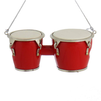 Red Pair of Mini Bongo Drums Ornament