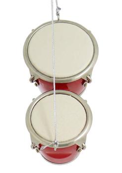 Red Pair of Mini Bongo Drums Ornament top