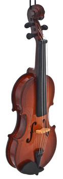 Mini Violin Ornament - Wood right front