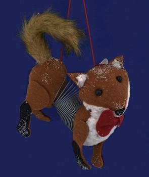 Slinky Fox Ornament