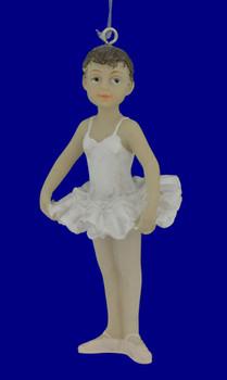Little Girl Ballerina Ornament Arms Down