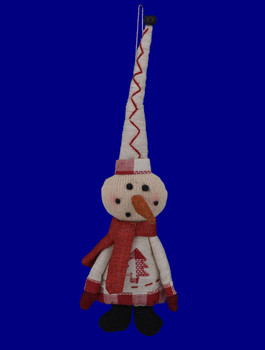 Stuffed Country Snowman Doll Ornament