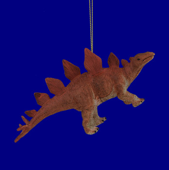 Stegosaurus Rubber Plastic Dinosaur Ornament