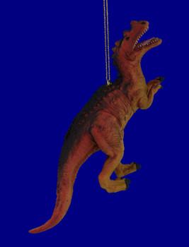 Carnotaurus Rubber Plastic Dinosaur Ornament