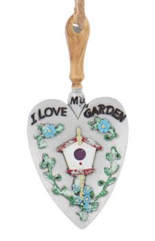 Love My Garden - Shovel Ornament words front