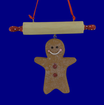 Gingerbread Cookie Rolling Pin Ornament