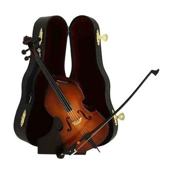 """Mini Upright Bass Gift Set, 4 pc - Bass Fiddle - 8"""" Bass Large #HI2625"""