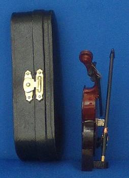 Mini Cello 4 pc Gift Set Decor Bow Case Stand 4 Small inset