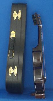 Mini Folk Guitar 3 pc Gift Set Wood Case Stand 8.5 Large inset