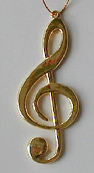 Music Note Christmas Ornament Clef Note 3.25 Gold