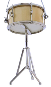 Mini Snare Drum Ornament w/Stand side bottom