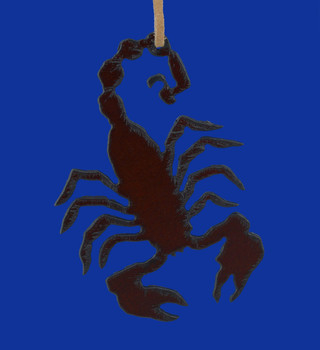 Rustic Steel Scorpion Ornament Made in the USA
