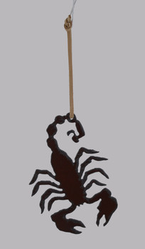 Rustic Steel Scorpion Ornament Made in the USA inset