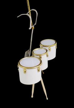 Mini Marching Tom Trio Drum Set Ornament right side