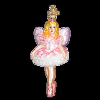 Sugar Plum Fairy Glass Ornament