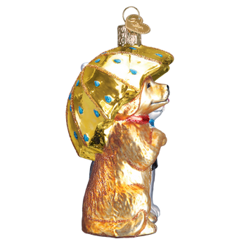 Raining Cats & Dogs Glass Ornament side