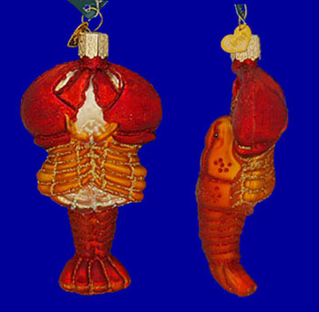 Lobster Old World Christmas Glass Ornament 12128 inset