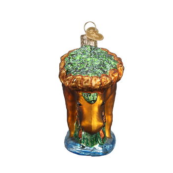 Munching Moose Glass Ornament Front