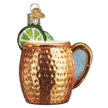 Moscow Mule Mug Glass Ornament