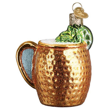 Moscow Mule Mug Glass Ornament right side