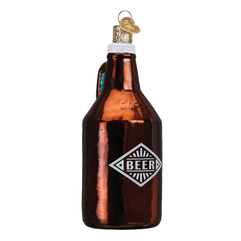 Beer Growler Glass Ornament
