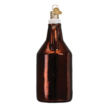 Beer Growler Glass Ornament side