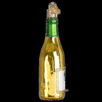 White Wine Bottle Ornament side