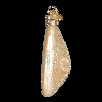 Sand Dollar Glass Ornament Side