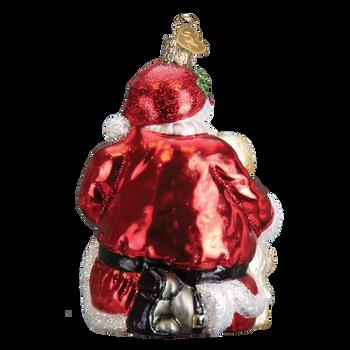 Santa's Puppy Love Ornament back