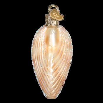 Clam Shell Seashell Glass Ornament side