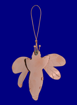 Copper Bumble Bee Ornament by Korman inset