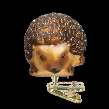 Hedgehog Glass Ornament Front