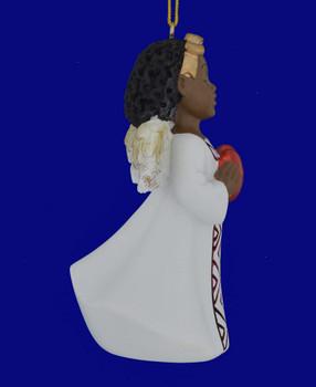African American Love Girl Angel Ornament Figurine inset