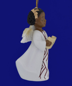 African American Peace Girl Angel Ornament Figurine inset