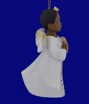 African American Hope Girl Angel Ornament Figurine inset
