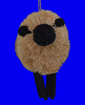 Lamb Sheep Buri Bristle Ornament inset front