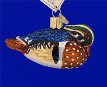 Wood Duck Old World Christmas Glass Ornament 16046 inset 2