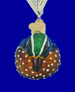 Wood Duck Old World Christmas Glass Ornament 16046 inset