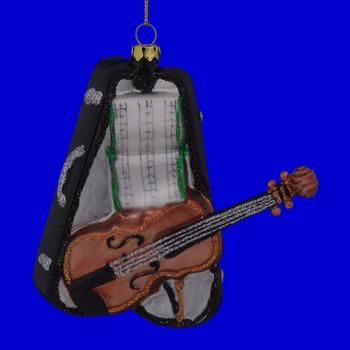 Violin with Case Glass Ornament 111020