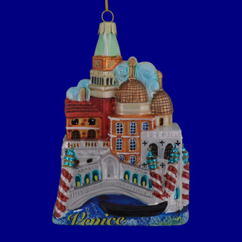 Venice Italy Glass Ornament C7569 Front