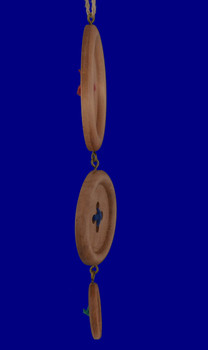 Wood Sewing Buttons Ornament OR8516 side view