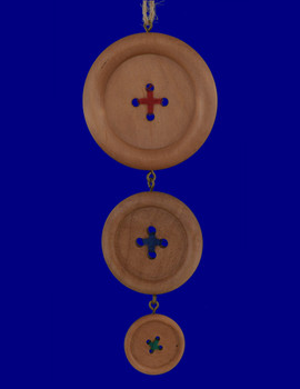 Wood Sewing Buttons Ornament OR8516