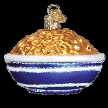 Mac & Cheese Glass Ornament back