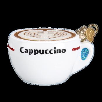 Cappuccino Glass Ornament