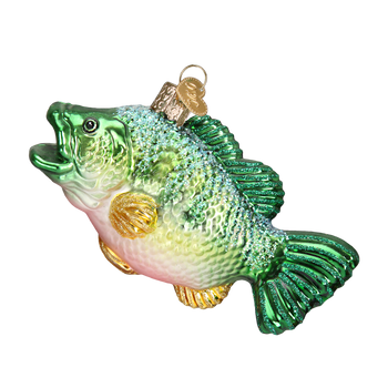 Largemouth Bass Glass Ornament