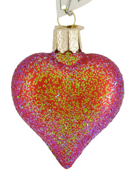 Small to Mid-Sized Sparkling Heart Ornaments style a
