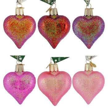 Small to Mid-Sized Sparkling Heart Ornaments your choice