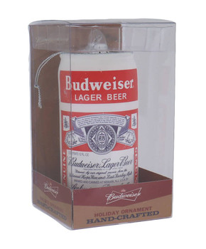 Retro Budweiser Lager Glass Ornament